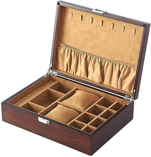 GOVD Caja Relojes Madera Hombre Organizador para Reloj Organizador ...