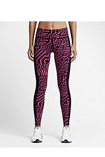 14622906 Amazon.com: Nike Women's Epic Lux Printed Running Tights, Pink ...