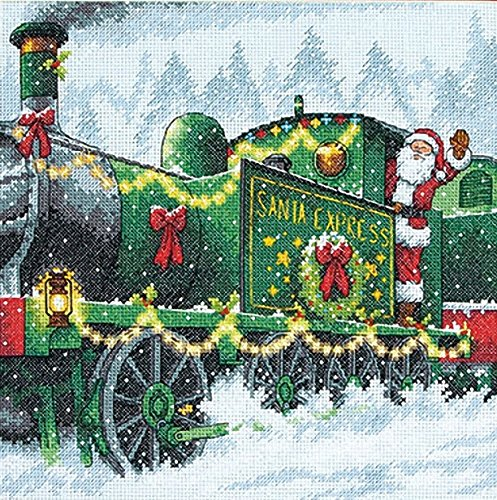 Dimensions Crafts Needlecrafts Counted Cross Stitch Kit, Santa - Express Cross Stitch