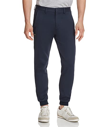 47a54d423 Image Unavailable. Image not available for. Color: Hugo Boss Boss Navy Mens  32x30 Slim-Fit Jogging ...