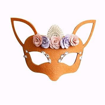 PromMask Mascara Facial Careta Protector de Cara dominó Frente Falso Animales máscaras niños Hombres y Mujeres