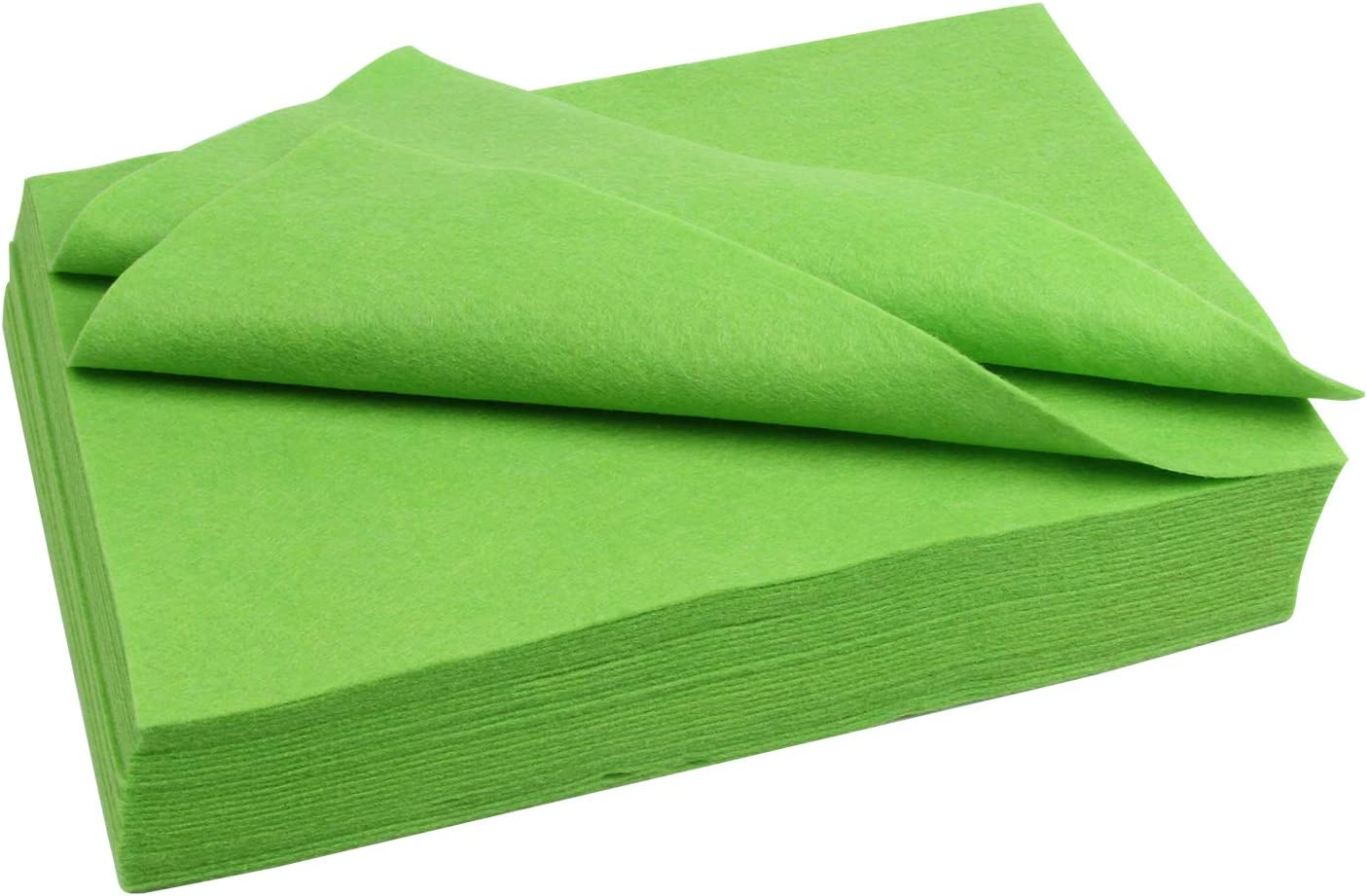 Polyester Felt Sheet Flexible 30 Sheets 20 x 30 cm(7-7/8 X 11-7/8 in 1/16 Inch Thick) (Apple Green)