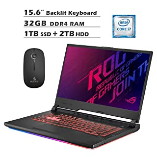 2020 Asus ROG 15.6 Inch 120Hz FHD 1080P Gaming Laptop  Intel 6-Core i7-9750H up to 4.50 GHz  GeForce GTX 1650 4GB  32GB RAM  1TB SSD (Boot) + 2TB HDD  Backlit KB  Win 10 + NexiGo Wireless Mouse