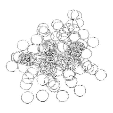 Lenceria Hierro Anillos Circulares Sujetador De Costura Ajustable Hebillas 100pcs 15mm Plata