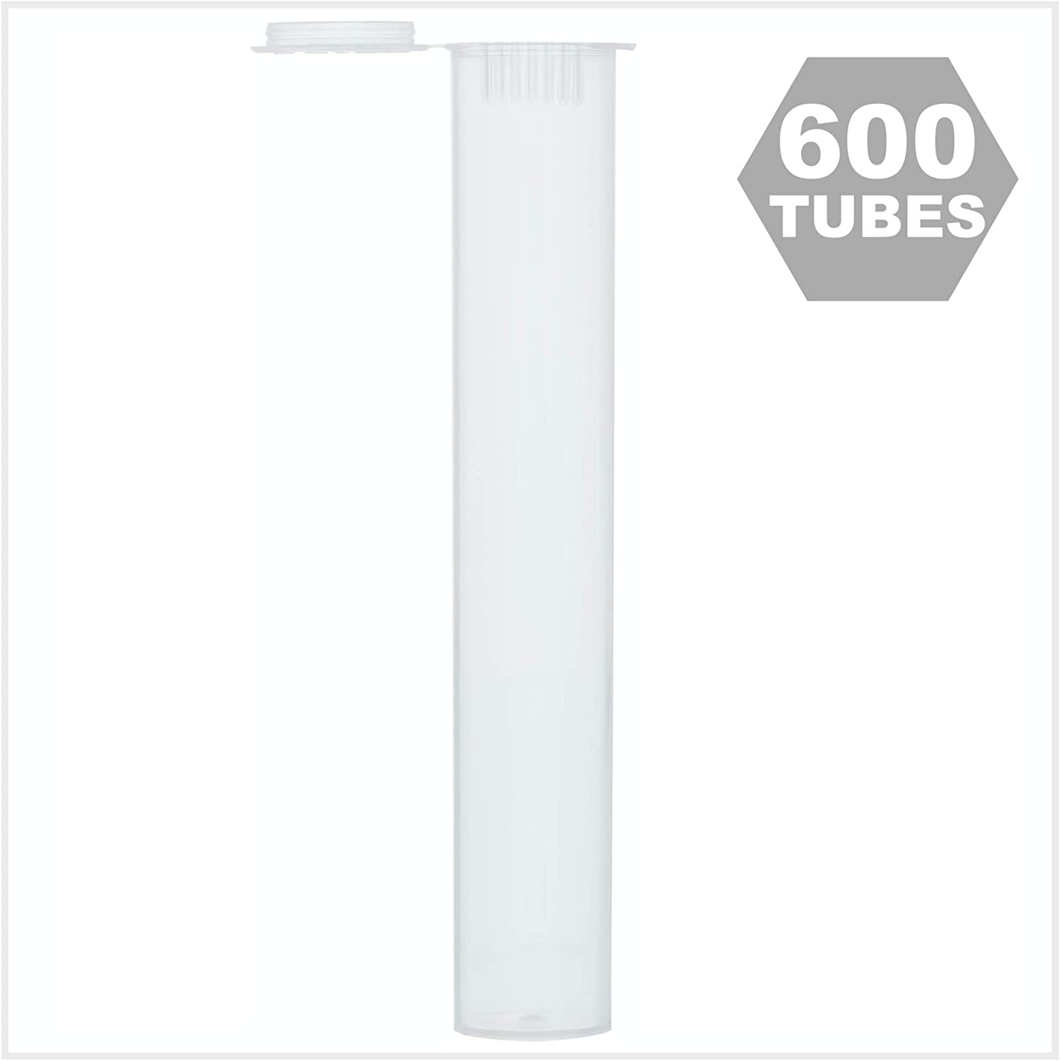 """(600 Pack) Doob Tube 109MM Clear Preroll Tube 
