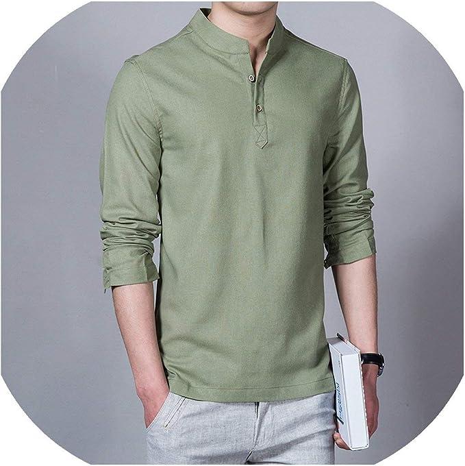 Sebaby Mens Long Sleeve Premium Casual Loose Single Breasted Shirts