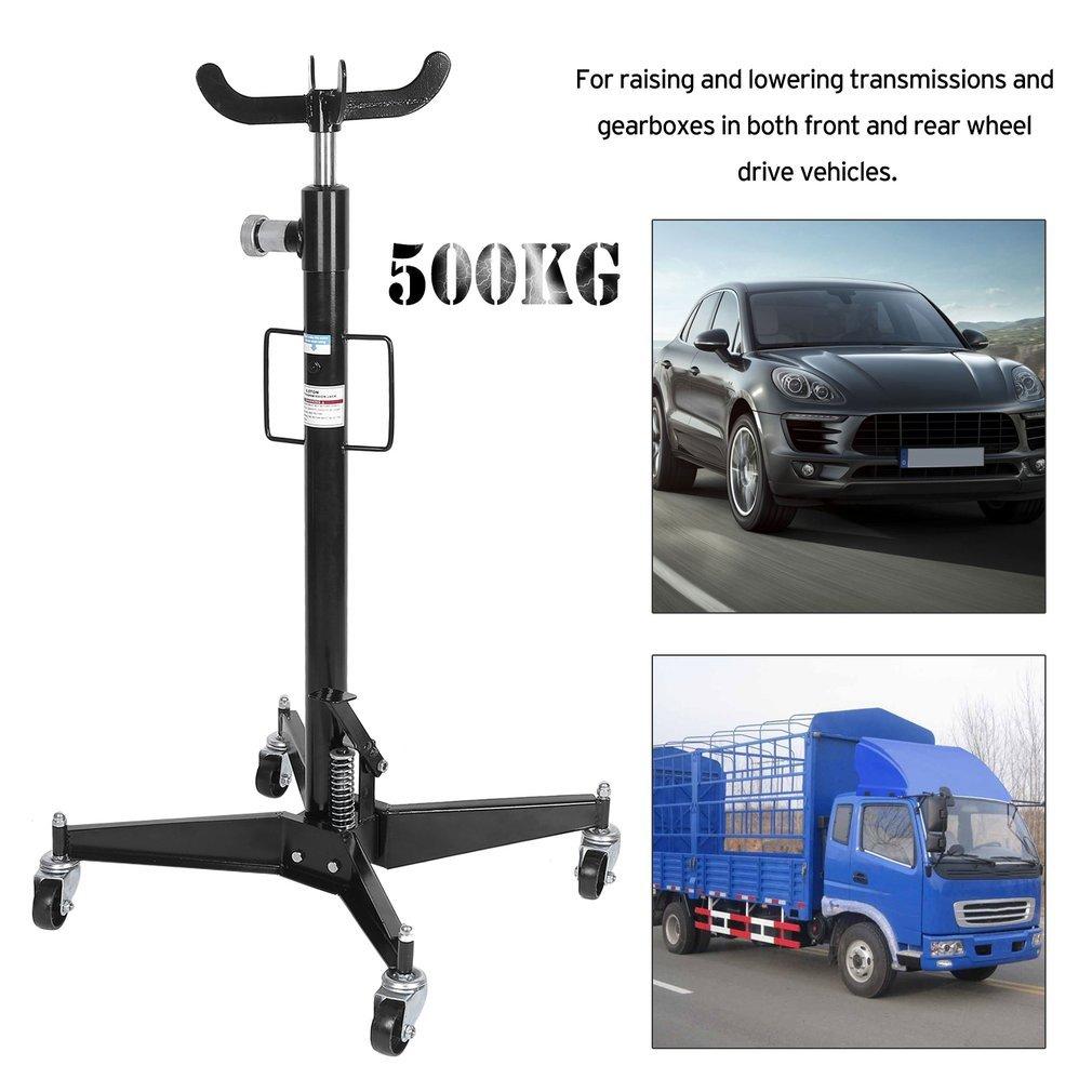 Cartkningts Gato de transmisión telescópico para coche, 500 kg, profesional, hidráulico, ruedas giratorias de elevación, color negro: Amazon.es: Coche y ...