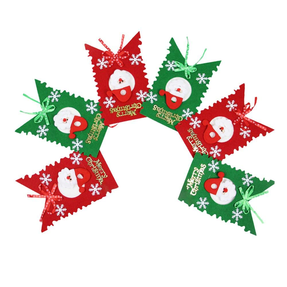 Alian Christmas Bunting, Six-Sided Multicolored Flag Party Banners for Christmas Hotel Shopping Mall Decorations Party Supplies