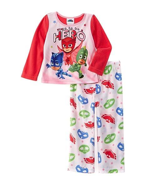 Pj Masks Girls Fleece Pajama Set featuring Catboy, Owlette, and Gekko (6)