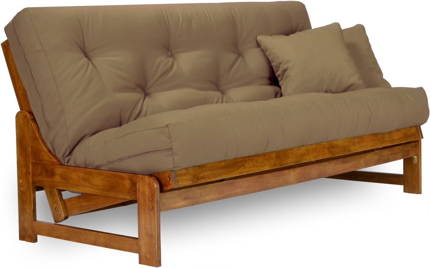arden futon set   full size futon frame with mattress included  8 inch thick mattress futons   amazon    rh   amazon