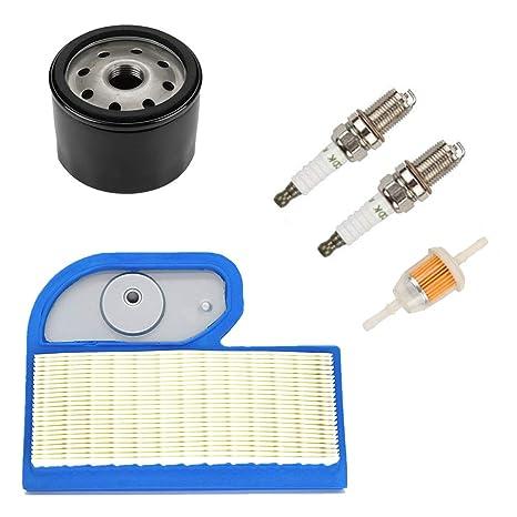 Euros AM107423 Filtro de Aceite + 2 Piezas bujías + 11013-7002 Filtro de Aire