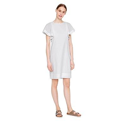 bf08a60d072 J. Crew Swiss-Dot Flounce-Sleeve Dress