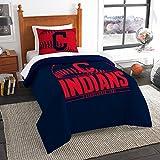 "Cleveland Indians MLB Twin Comforter Set (Grand Slam Series) (64"" x 86"")"