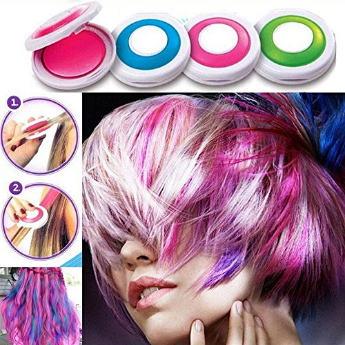 PEPECARE 4 Colors Hair Dye Powder Temporary Hair Styling Chalk Salon Home...