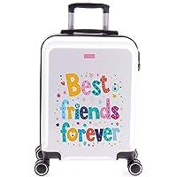 imome Cool Maleta de Cabina Juvenil Best Friends Forever 55x40x20 cm | Equipaje de Mano, Trolley de Viaje Ryanair…