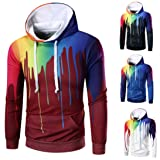 Men's Hoodies, FORUU Long Sleeve Digital Print