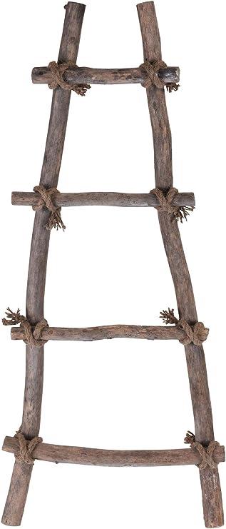 Spetebo - Escalera Decorativa con Cuerda (82 x 34 cm, Madera Maciza): Amazon.es: Juguetes y juegos