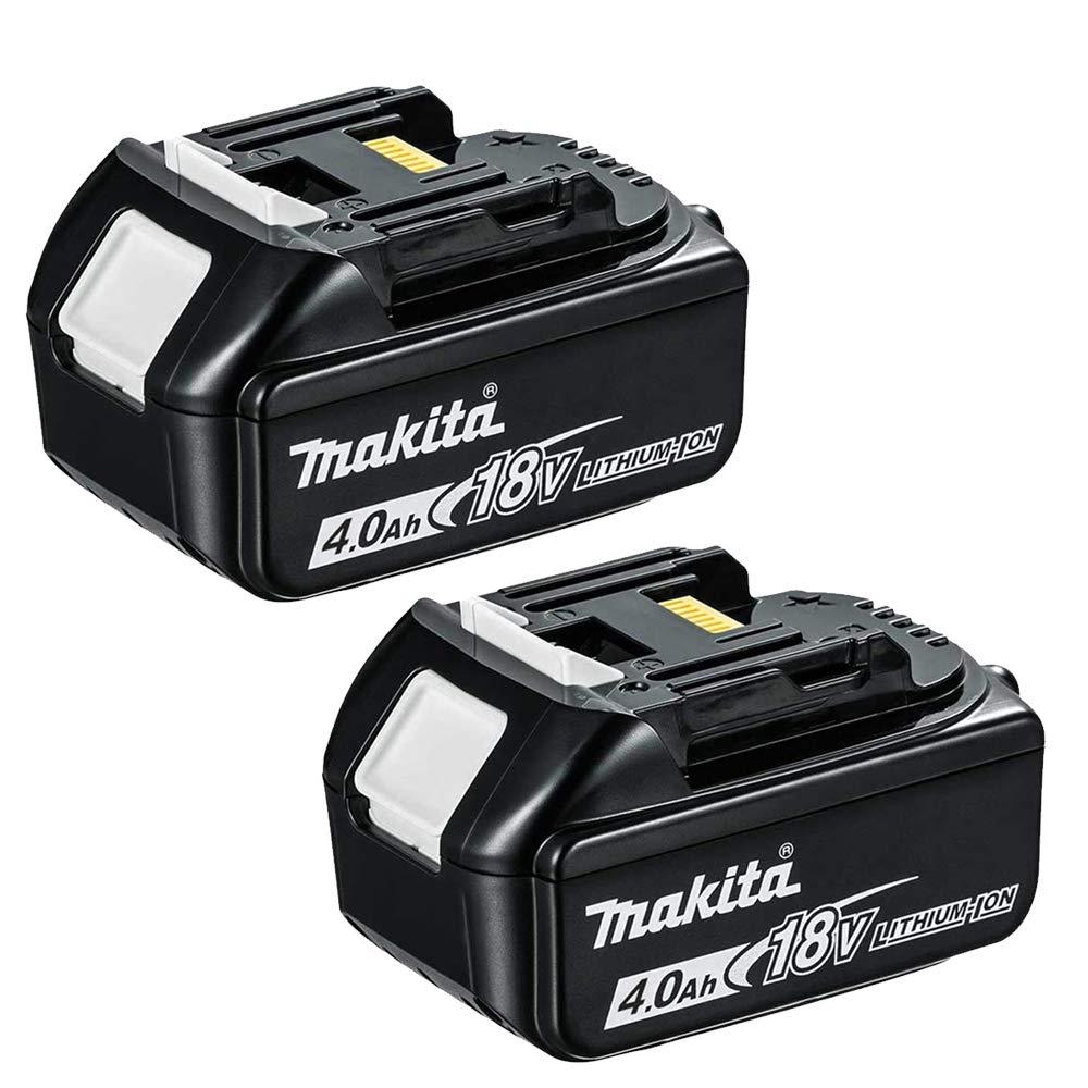 Makita Genuine BL1840 18V 4.0Ah Battery Twin Pack for Makita DHP481Z, DHP458Z, DRT50ZJ, DSP600ZJ, DGA454Z, DJR187Z