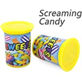 CHAFIN Screaming Candy Jar | Tricky Joke Shocking Toy Ejection Barrel Spoof Prank Gag Funny Toys for Kids and Adults Fool's Day Gift(2 Pack)