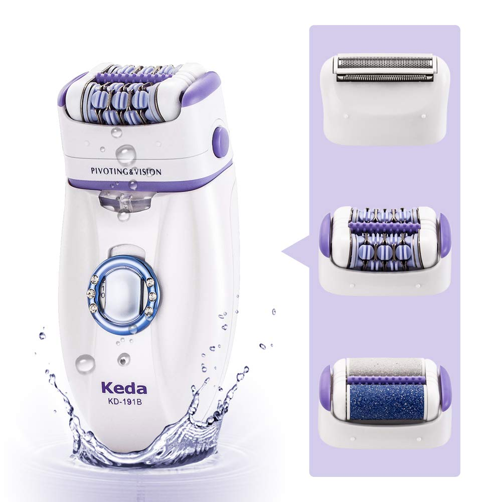 Women's Epilator, Flend 3 in 1 Electric Hair Removal Shaver, Rechargeable Lady Bikini Trimmer Women's Epilator