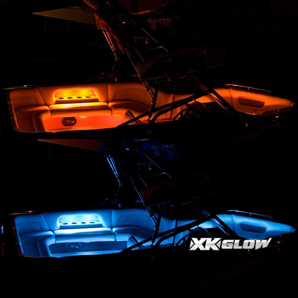 Amazon.com 6pc 36  + 6pc 10  Strips Boat Marine Interior Accent Lighting Million Color Remote Controlled Interior LED Accent Light Kit for Yacht Pontoon ...  sc 1 st  Amazon.com & Amazon.com: 6pc 36