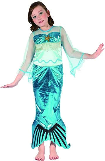 YOU LOOK UGLY TODAY Girl's Authentic Mermaid Dress-up Costume, Quality Fabric, Washable & Durable-Large