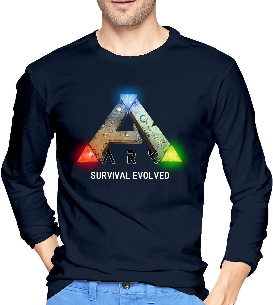 Patrick R Garrett Ark-Survival-Evolved Camisetas de Manga Larga Estampadas para Hombre Camiseta con Estilo Informal para Ropa de Calle 2