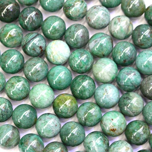 Green Jasper Bracelet (Natural Green Dragon Blood Jasper Round Gemstone Beads for Jewerly Bracelet Making (8mm))