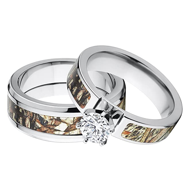 Wedding Ring Sets For Him And Her Silver Wedding Ring Sets For