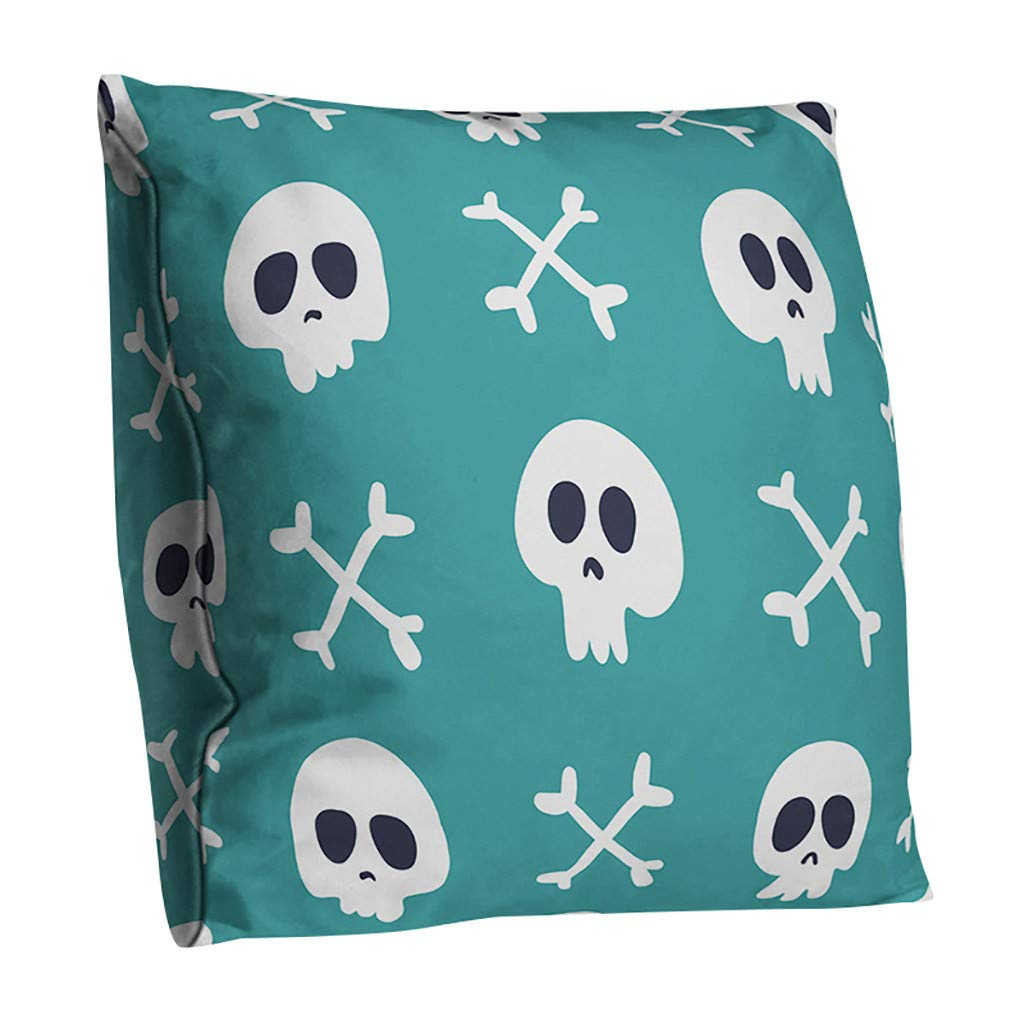 Halloween Pillowcase,Decorations Pillows Cover Orange Pumpkin Crow Witch Halloween Cushion Pillowcases for Sofa Couch