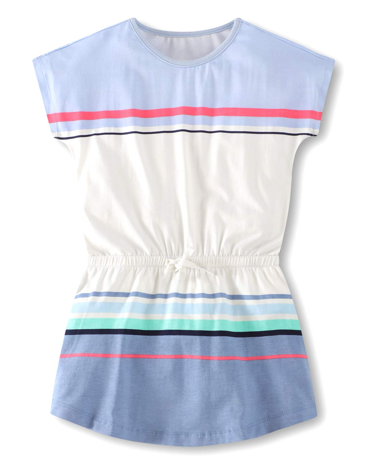 37f93e3f66b Fiream Girls Summer Applique Cotton Short Sleeves Casual Striped Dresses  product image