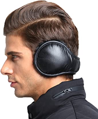 Unisex Warm Adjustable Earmuffs with Fur Foldable Ear Warmers Polar Fleece  Men Women Earmuffs at Amazon Men's Clothing store