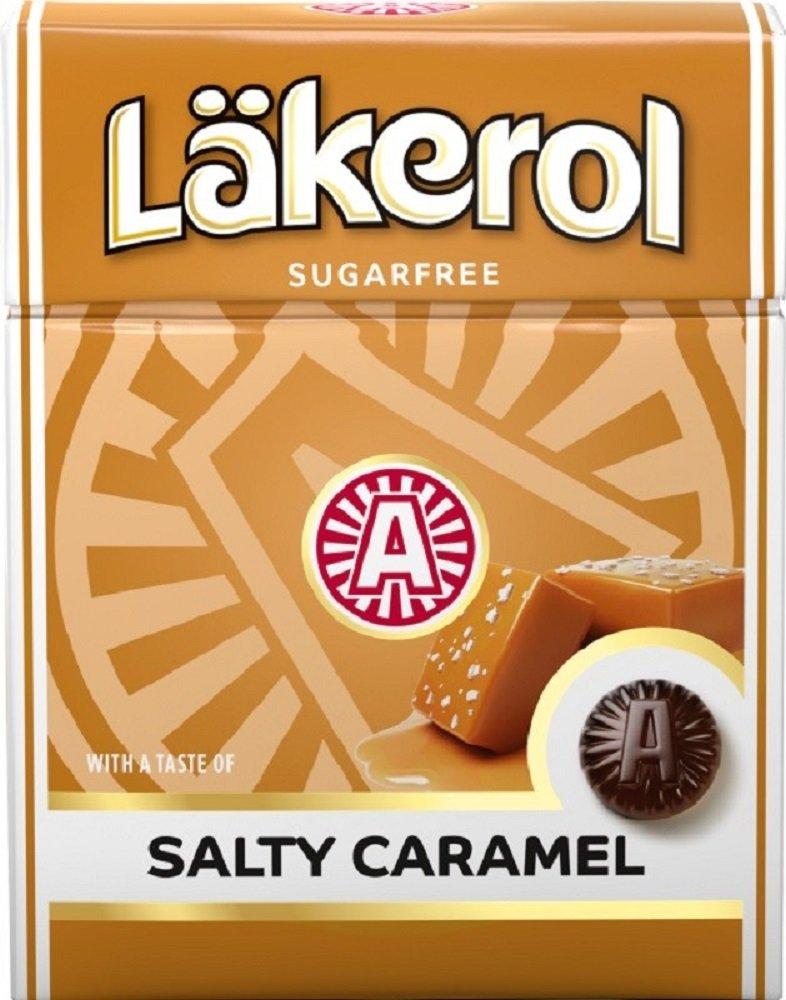24 Boxes x 25g of Läkerol Salty Caramel - Stevia - Original - Swedish - Salty Licorice - Salmiak - Sugar Free - Licorice - Pastilles - Lozenges - Drops - Dragees - Candies - Sweets