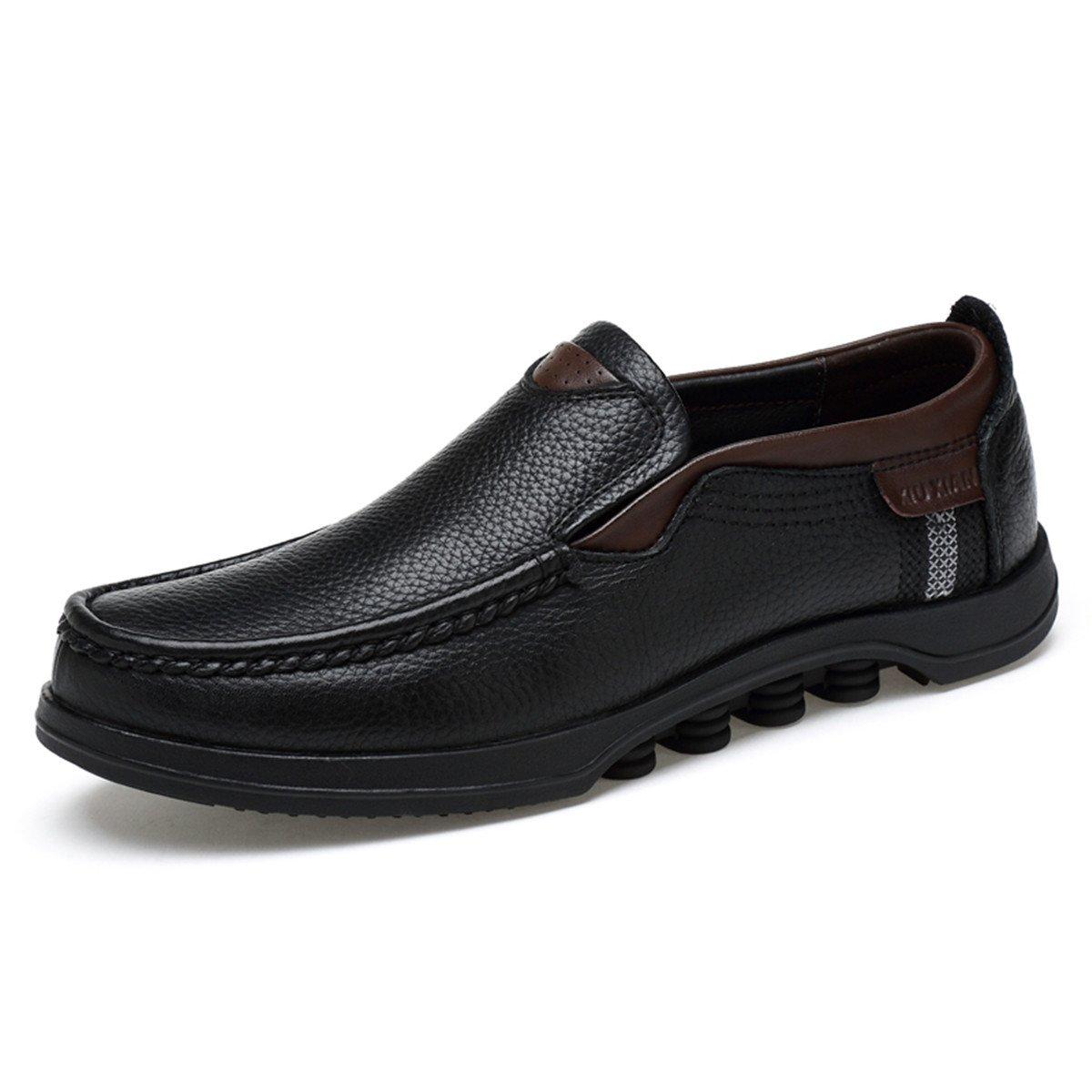 Gracosy Mocasines para Hombre Zapatos de Cuero Casual de los Hombres Zapatos Planos Mocasines Zapatos de Negocios Mocasines de conducción de Zapatos: ...