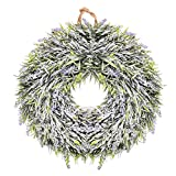 BB Lavender Flower Wreath Easter Holiday Door Wall Window Home Hanging Decoration