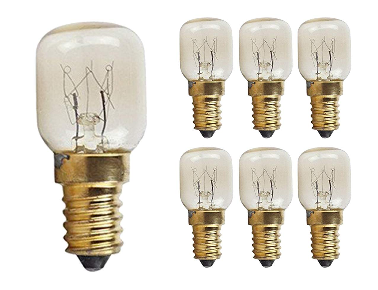 CTKcom 15W T22 E14 Base Oven Light Bulbs(6 Pack)- T22 Microwave Light Bulbs 120V Heat Resistant Bulbs 300