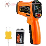 Infrared Thermometer,ZOTO Digital IR Infrared Thermometer with K-Type,Non Contact Laser Thermometer Gun with LCD Display,-58-1472°F Temperature Thermometer for Cooking BBQ Automotive Oven Industrial