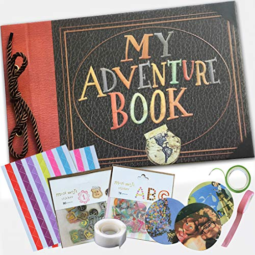 - My Adventure Photo Album - Embossed Cover -Handmade DIY Pixar Up Movie- Family Scrapbook Photo Album - Includes Everything to Make The Perfect Memory Book - 80 Pages
