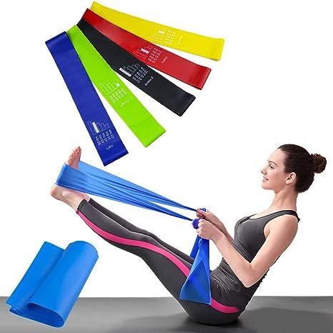 Tiras elasticas para ejercicio