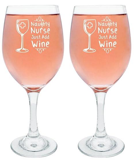 Graduation Gifts for Nurses Funny Nurse Wine Glass Funny Nurse Gifts Naughty Nurse Just Add Wine  sc 1 st  Amazon.com & Amazon.com | Graduation Gifts for Nurses Funny Nurse Wine Glass ...