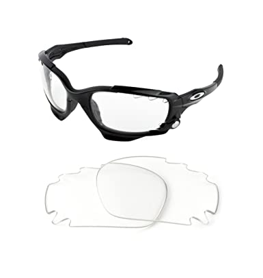 2d48d2d6bf1 NEW REPLACEMENT CLEAR LENS FOR OAKLEY RACING JACKET SUNGLASSES  Amazon.co.uk   Clothing