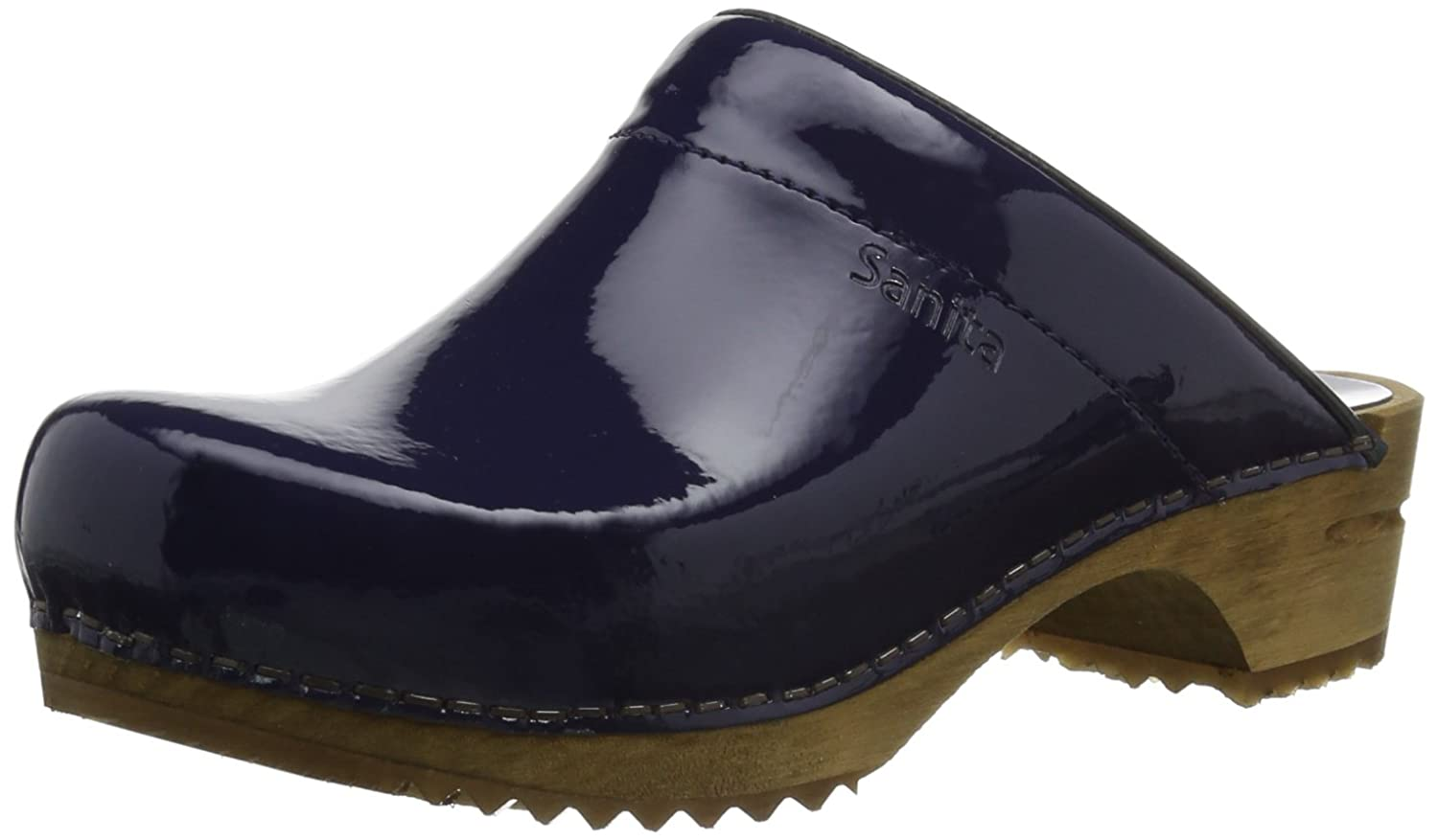 Sanita Wood Classic Open Patent for women from leather