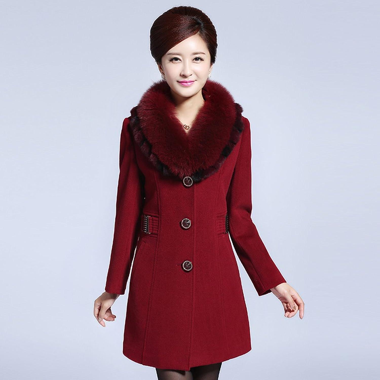 妈妈装_毛领呢子外套女中长款妈妈装宽便宜价格质量好吗