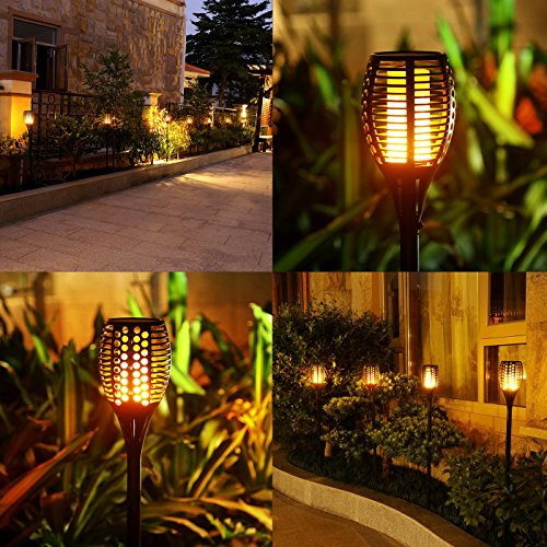 Porch Light Flickers When Off: Solar Torch Lights,Balight Dancing Flame Lighting 96 LED