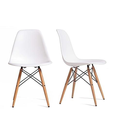 Brikasa Silla Juego de 4 sillas de Comedor escandinavas ...