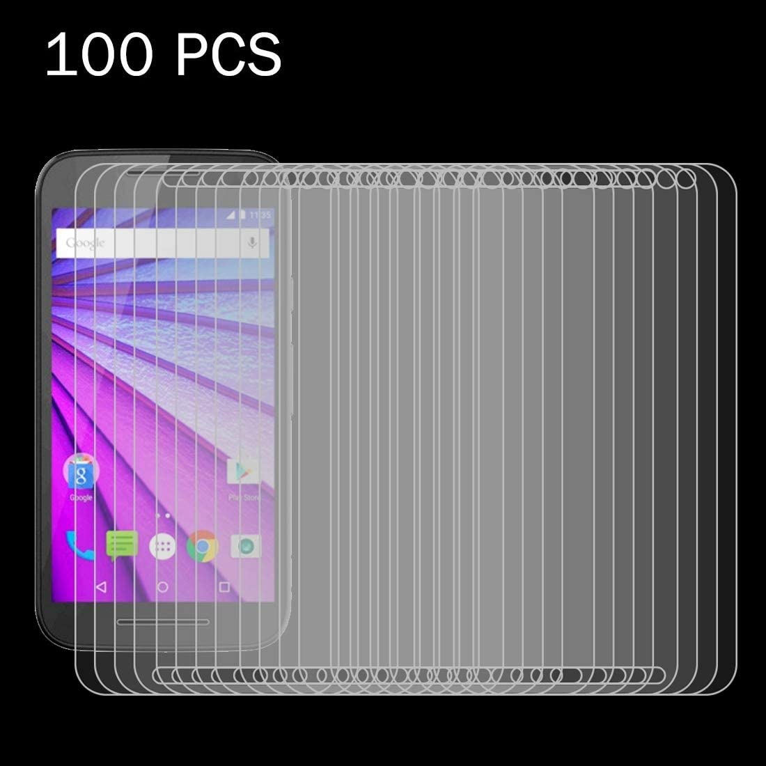 3rd gen ZYS Screen Protector 100 PCS for Motorola Moto G 0.26mm 9H Surface Hardness 2.5D Explosion-Proof Tempered Glass Film