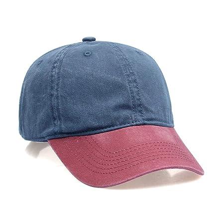 Gorra de béisbol de Tela de Mezclilla desgastada Gorra Lavable ...