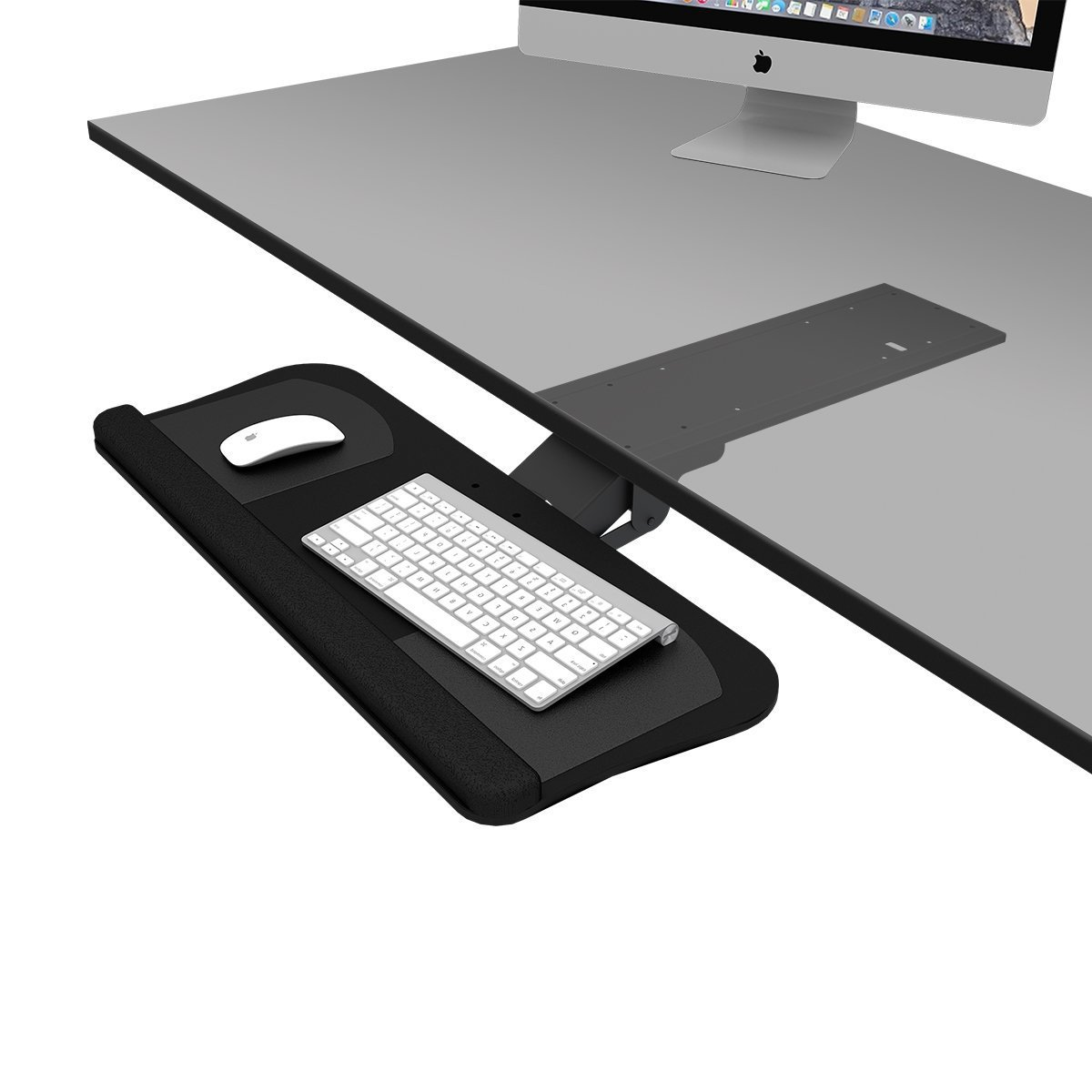 DEVAISE Easy Computer Keyboard Tray - Under Desk Mouse Platform Tray