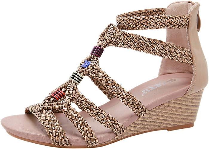 Sandalias Mujer Chanclas Tacon del Verano Cómodos Zapatos
