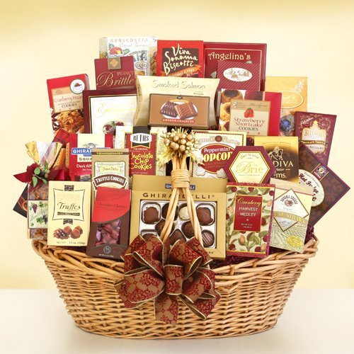 - Happy Holiday Extravagant Gourmet Gift Basket by The Gift Basket Gallery